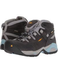 Keen Utility - Detroit Xt Mid Soft Toe Waterproof (magnet/sterling Blue) Women's Work Boots - Lyst