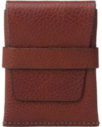 Bosca - Washed Collection - Envelope Card Case (cognac) Credit Card Wallet - Lyst