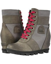 Sorel - Lexietm Wedge (cattail) Women's Lace-up Boots - Lyst