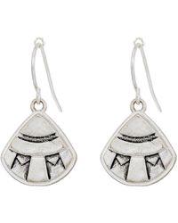 The Sak - Etched Fan Drop Earrings (silver) Earring - Lyst