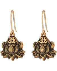 ALEX AND ANI - Lotus Peace Petals Hook Earrings (rafaelian Silver) Earring - Lyst