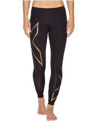 2XU - Mcs Mid-rise Bonded Compression Tights (black/gold) Women's Workout - Lyst