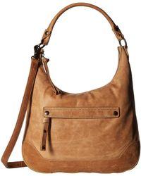 Frye - Melissa Zip Hobo (cognac Antique Pull Up) Hobo Handbags - Lyst