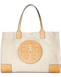 3f954a1f2e57 Tory Burch - Ella Canvas Tote (navy) Handbags - Lyst