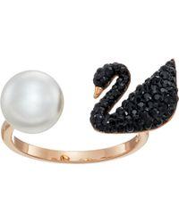 Swarovski - Iconic Swan Ring - Lyst