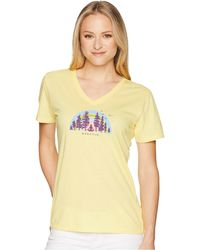 Life Is Good. - Breathe Deep Cool Vee (happy Yellow) Women's T Shirt - Lyst