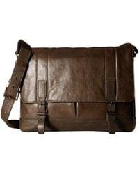 Frye - Oliver Messenger (slate Smooth Pull Up) Messenger Bags - Lyst