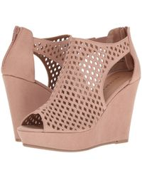 Chinese Laundry - Indie Wedge (dark Nude) Women's Wedge Shoes - Lyst