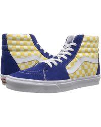 4b952c64bc Lyst - Vans Sk8-hitm ((bmx Checkerboard) True Blue yellow) Skate ...