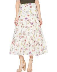 Lauren by Ralph Lauren - Tiered Cotton-blend Skirt (chalk Multi) Women's Skirt - Lyst