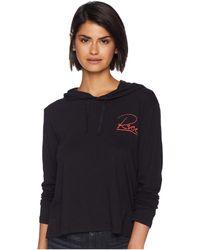 RVCA - Paris Cropped Hoodie (black) Women's Clothing - Lyst