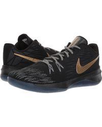 Nike - Zoom Evidence Ii (black/metallic Gold/cool Grey) Men's Basketball Shoes - Lyst