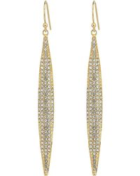 Vince Camuto - Crystal Pave Spear Earrings - Lyst