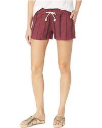 Roxy - Oceanside Shorts Yarn-dye (oxblood Red/tea Party Stripe) Women's Shorts - Lyst