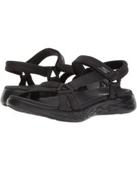 Skechers - On-the-go 600 - Brilliancy (charcoal) Women's Sandals - Lyst
