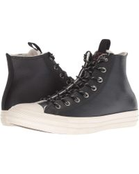 57d3c3ae12b6 Lyst - Converse Desert driftwood Ct All Star Leather Hi Trainers in ...