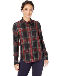 Lauren by Ralph Lauren - Petite Tartan Crest Twill Shirt (black/red Multi) Women's Long Sleeve Button Up - Lyst