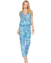 Lilly Pulitzer - Paulina Jumpsuit (bennet Blue Sneak A Beak) Women's Jumpsuit & Rompers One Piece - Lyst