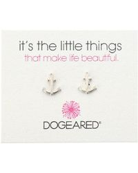 Dogeared | It's The Little Things Anchor Studs | Lyst