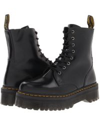 Dr. Martens - Jadon 8-eye Boot (black Polished Smooth) Lace-up Boots - Lyst