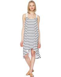 Heidi Klein - Core Twist Back Tapered Hem Dress (stripe) Women's Swimwear - Lyst