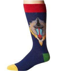 Socksmith - Mind Your Mandrills (navy) Men's Crew Cut Socks Shoes - Lyst