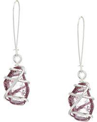 Robert Lee Morris - Caged Stone Drop Earrings (amethyst) Earring - Lyst