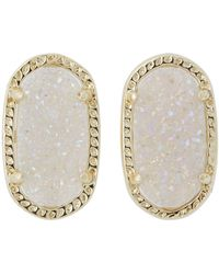 Kendra Scott - Ellie Earring (gold Iridescent Drusy) Earring - Lyst