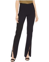 Liverpool Jeans Company - Reese High-rise Straight Front Slit In Super Stretch Ponte Knit (black) Women's Casual Pants - Lyst