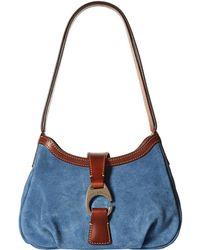 Dooney & Bourke - Derby Suede Shoulder Bag (brown/chestnut Trim) Shoulder Handbags - Lyst