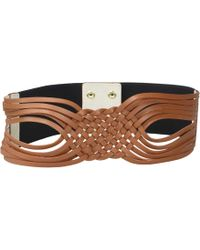Lodis Woven Front Stretch Belt - Brown