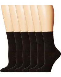 Hue - Turncuff 6-pack (white) Women's No Show Socks Shoes - Lyst