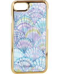 Lilly Pulitzer - Iphone 7 Luxe Cover (serene Blue Oh Shello) Cell Phone Case - Lyst
