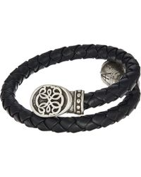 ALEX AND ANI - Path Of Life Braided Leather Wrap Bracelet (rafaelian Silver) Bracelet - Lyst