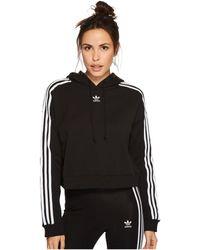 adidas Originals - Cropped Hoodie (black) Women's Sweatshirt - Lyst
