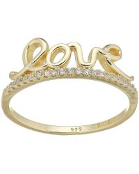 Shashi - Love Pave Band Ring (gold) Ring - Lyst