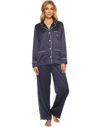 Lauren by Ralph Lauren - Satin Notch Collar Pj - Lyst
