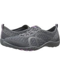 Skechers - Breathe-easy - Fortuneknit (black) Women's Shoes - Lyst