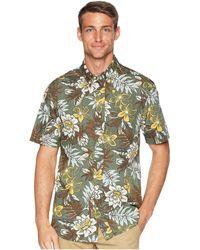 Reyn Spooner - Vintage Hawaiian Floral Tailored Aloha Shirt (yellow) Men's Short Sleeve Button Up - Lyst