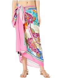 Trina Turk - Radiant Blooms Pareo Cover-up (multicolored) Women's Swimwear - Lyst