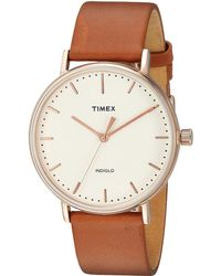 Timex - Fairfield Two-piece Strap 3-hand (brown/natural) Watches - Lyst