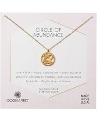 Dogeared - Circle Of Abundance, Good Luck Charm Necklace - Lyst