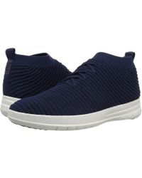 3a56f8524d56c6 Fitflop - Uberknit Slip-on High Top Sneaker In Waffle Knit (black) Men s
