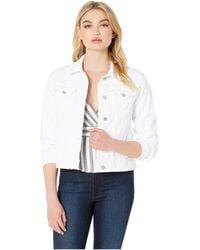 Hudson Jeans - Classic Trucker Jean Jacket In White (white) Women's Clothing - Lyst