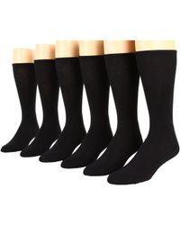 Ecco - Dress Cushion Mercerized Cotton - 6 Pack (black) Men's Crew Cut Socks Shoes - Lyst