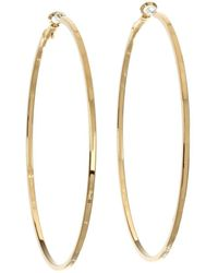 Guess - Square Edge Hoop (gold) Earring - Lyst