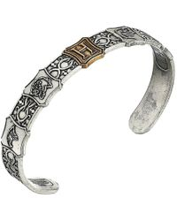 ALEX AND ANI - Harry Potter Hogwarts Is My Home Mens Cuff Two-tone (rafaelian Silver) Bracelet - Lyst