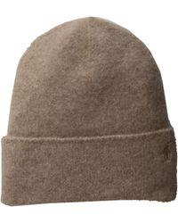 d4e12446bba Polo Ralph Lauren - Cashmere Felted Hat Cuff Hat (doe Heather) Beanies -  Lyst