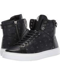 best service b3d66 39edb MCM - High Top Lace-up Sneaker (black) Men s Shoes - Lyst
