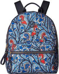 9be36e8276d Tory Burch - Tilda Printed Zip Backpack (blue Something Wild) Backpack Bags  - Lyst